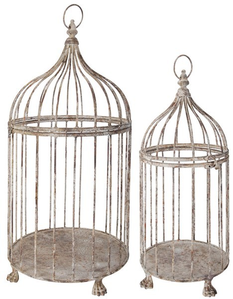 Esschert Design Cage d'oiseaux en MP Set de 2 (AM04 - 8714982040665) | Trends & Vision