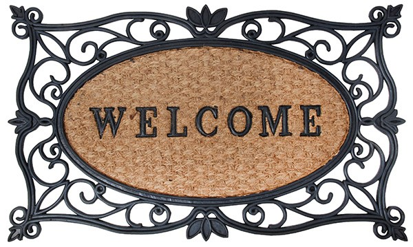 Esschert Design Tapis caoutchou WELCOME 75 x 45 cm (RB107 - 87149820673410) | Trends & Vision