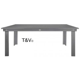 Table rectangulaire gris