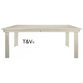 Table rectangulaire blanche